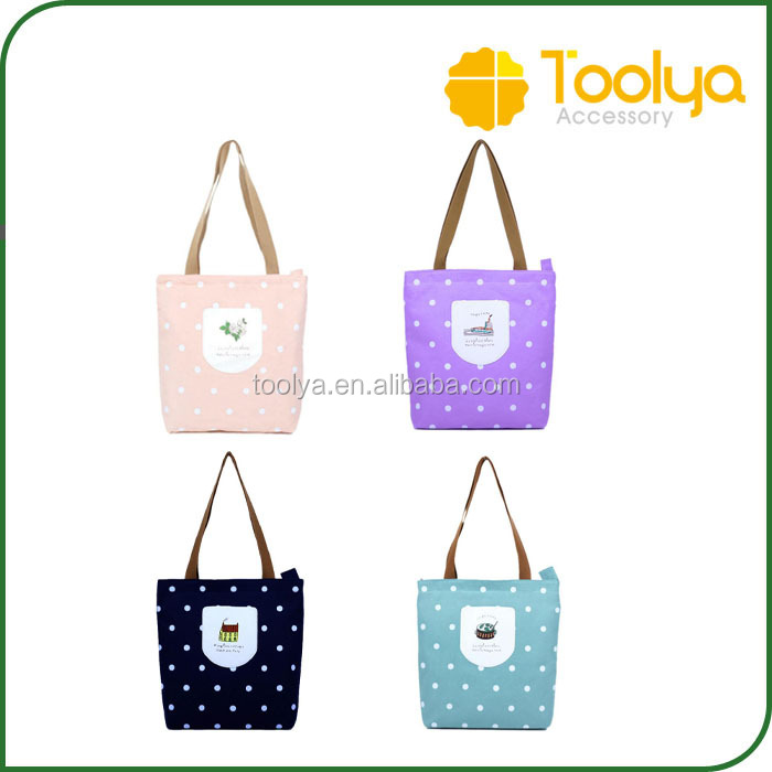 Canvas Bags Shopper Tote Zipper Summer Holiday Beach Handbag