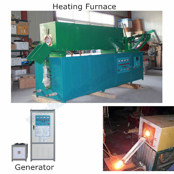 High frequency induction hot forging furnace for round bar