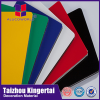 Alucoworld acp panel color chart sheet laminator 4mm panel compuesto de aluminio con cobertura PVDF