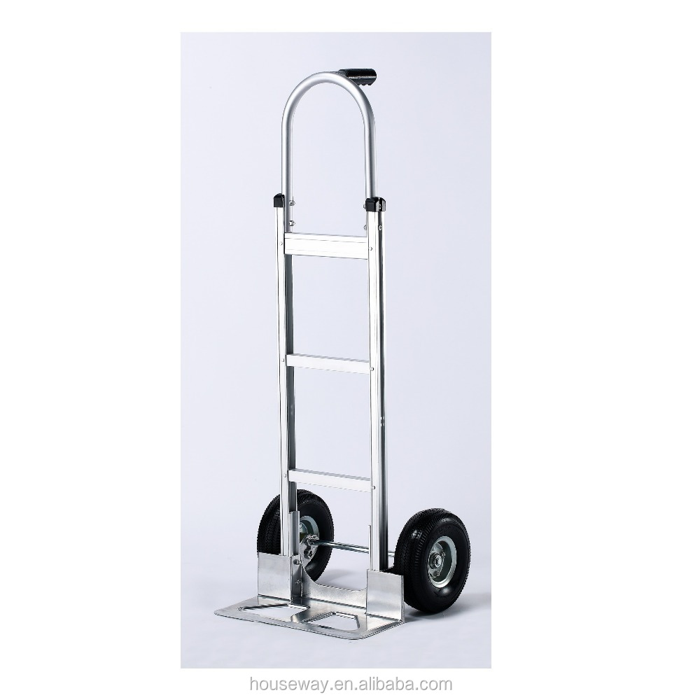 T HANDLE ALUMINUM TWO WHEEL HAND TROLLEY MOVING CART