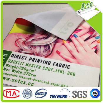 16% Off DIN4102 B1 100 Polyester digital printing backlit fabric for LED light box JYBL-306