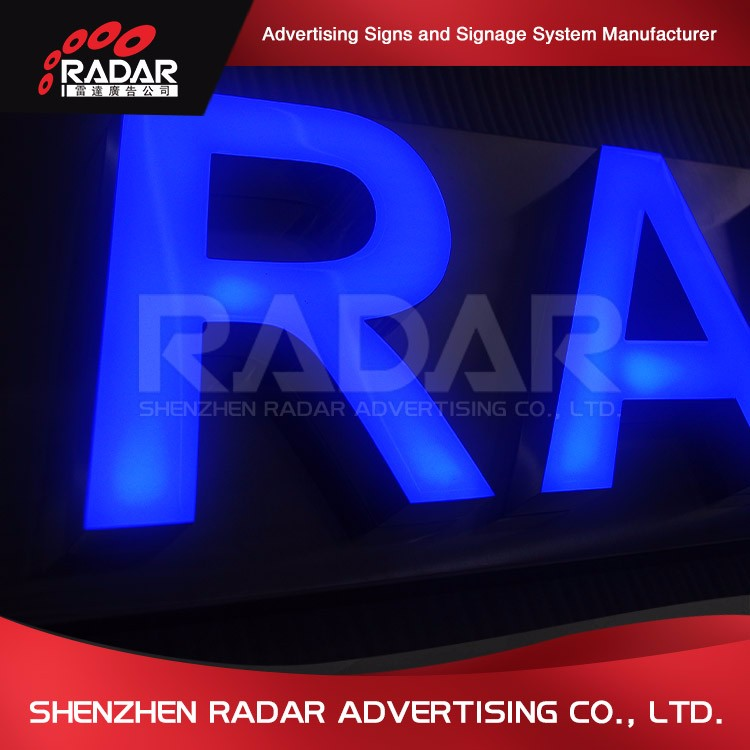 Super bright outdoor 3d resin signage