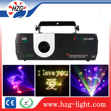 Dj Sound System Laser Dmx512 Sd Laser Light1w / 2w Rgb full color Text Laser Projector Advertising Lighting