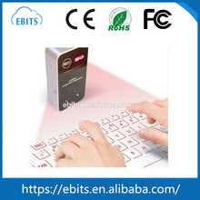 Fashion virtual mini wireless bluetooth 3.0 laser keyboard