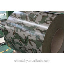 Special design PE PVDF color coated aluminum coil roll military pattern for toy part military vehicles transportation