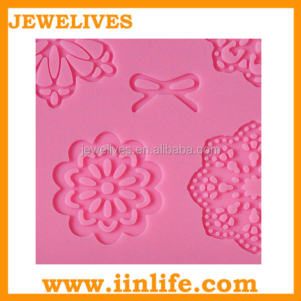 Wholesale fondant cake decorating silicone lace molds