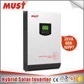 < MUST> 2kw 3kw 5kw DC to AC home use pure sine wave solar hybrid power inverter with MPPT solar controller