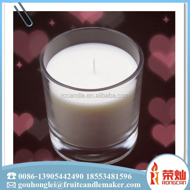 Wholesale mexico paraffin wax 8 inch tall clear glass holder 7 day votive candle