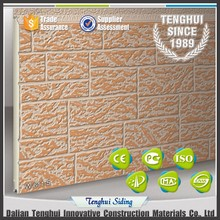 Insulated & decorative color steel brick wall panel/heat preserving room flexible rigid polyurethane PU foam board
