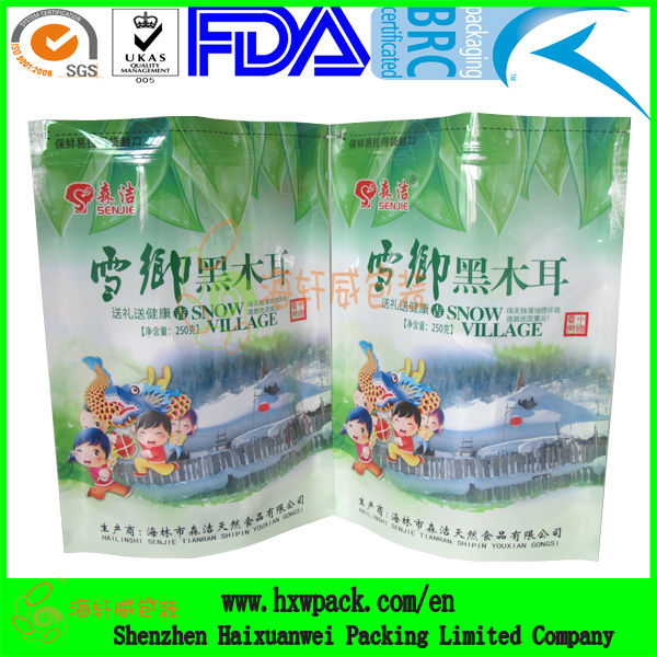 printed plastic ready made food packs