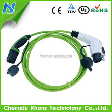 Mode 3 dostar type1 to type2 ev charging cables/32a j1772 to iec 62196 evse cable connectors/ev cable cords for leaf car