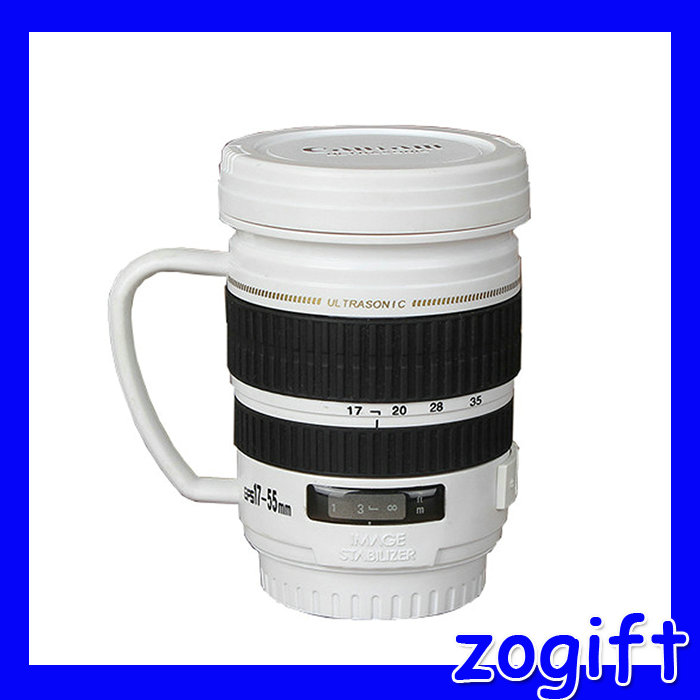 ZOGIFT Creative Drinking Cup Coffee Cup Camera Lens Mug With Handle