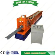 plc automatic ube ridge flashing plc dust control panel steel cold wind sheet roll forming machine