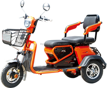 Fashionable light weight double seat electric tricycle mobility scooter