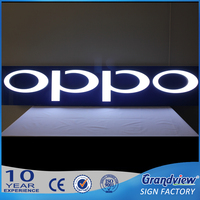 Factory direct sale lighting up business sign acrylic vacuum moulding sign letter