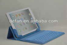 Elegent design bluetooth keyboard with leather case for ipad mini