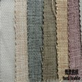 high quality and best selling 100% polyester imitated linen upholstery fabric for sofa and garment