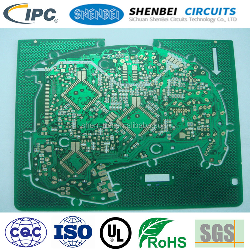 SHENBEI PCB OSP HAL LF ENIG 0.25mm SMT aluminum pcb led lamp square strip pcb led bulb pcb with <strong>ISO</strong>,CE,Rohs Certification