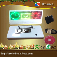 Smart attractive Christmas gift Programmable Name tag Name badge LED scrolling message pixel 12x36 LED name tag