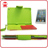 Manufacturer High Quality Stand Function With Card Slots Smart Wallet Case for Mini Ipad