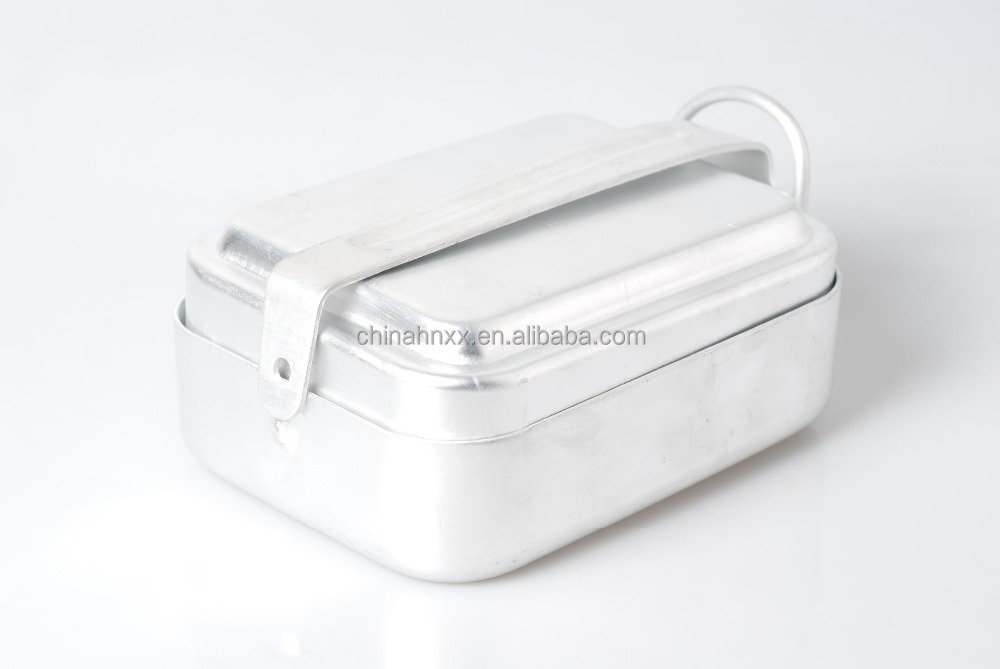 durable aluminum mess tin easy to carry military/camping mess tin