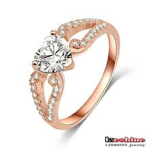 Angel Wing with Heart Love Ring 18K Pink Rose Gold Plated Luxury Promotional Gift Jewelry CRI0144-A