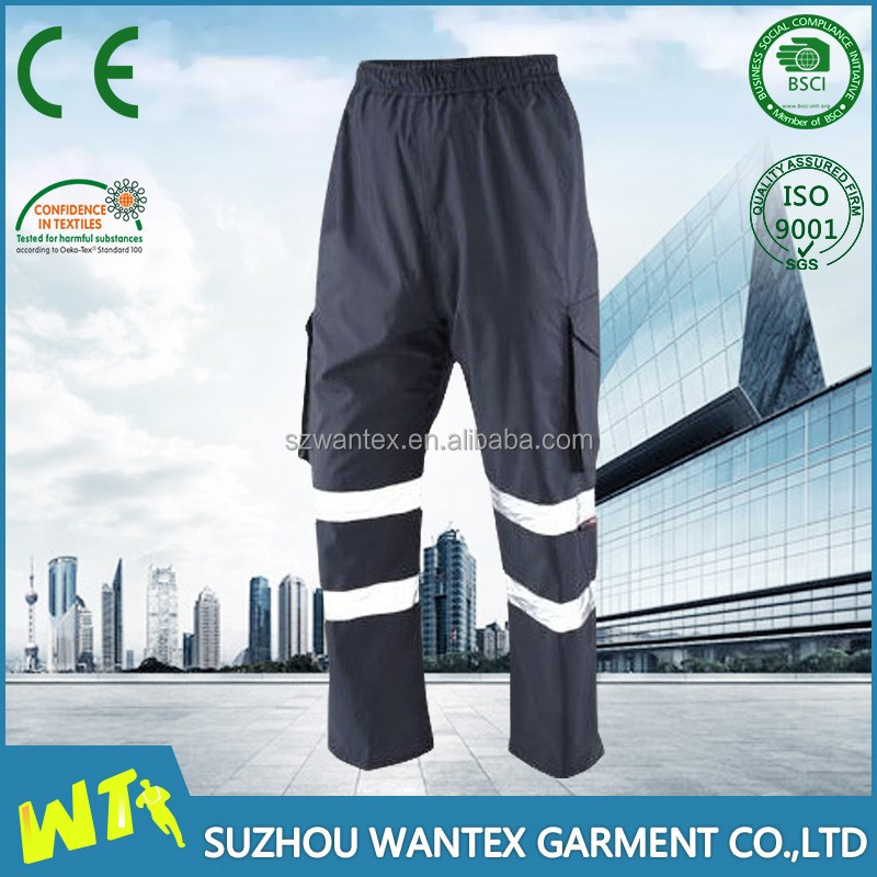100% polyester mens navy blue trousers cargo work pants for men