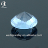 Wholesale Round Checker Cut Faceted Aquamarine Lab Synthetic Cubic Zircon Stone CZ Gems Loose Gemstone Beads Diamond for Jewelry