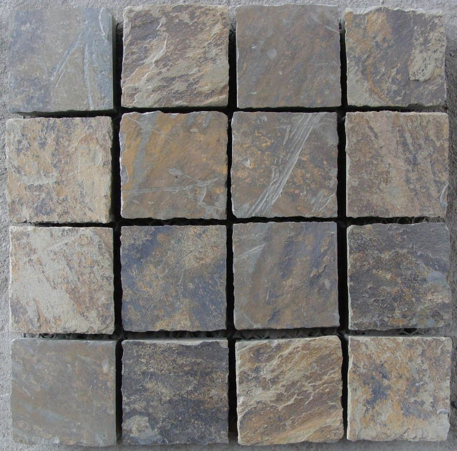 natural edge pieces split surface rusty slate culture stone cheap driveway paving stone