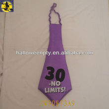 Purple Big Funny 30 No Limits Birthday Tie Party Favor