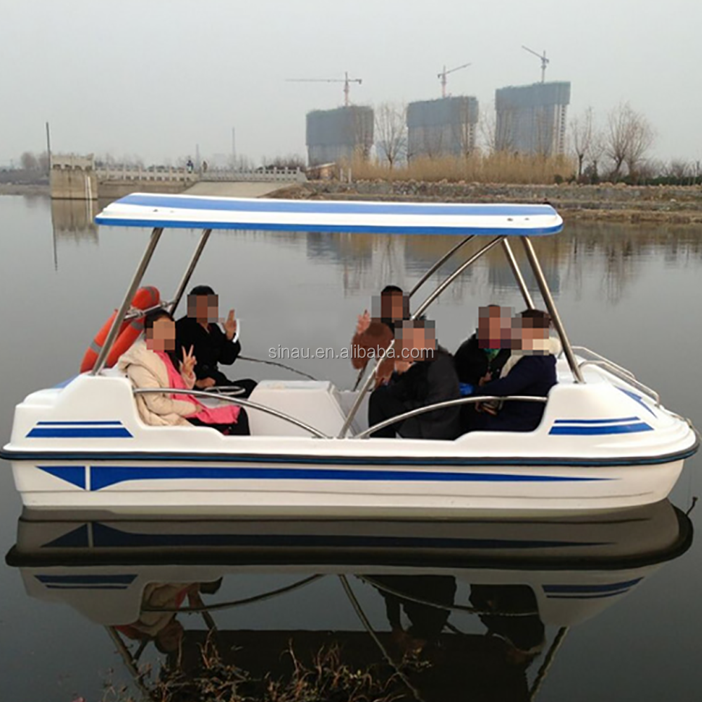 6 persons water bike fiberglass pedal boat for sale