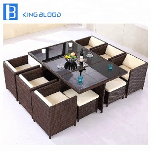 Factory price outdoor garden furniture wicker dining rattan chair
