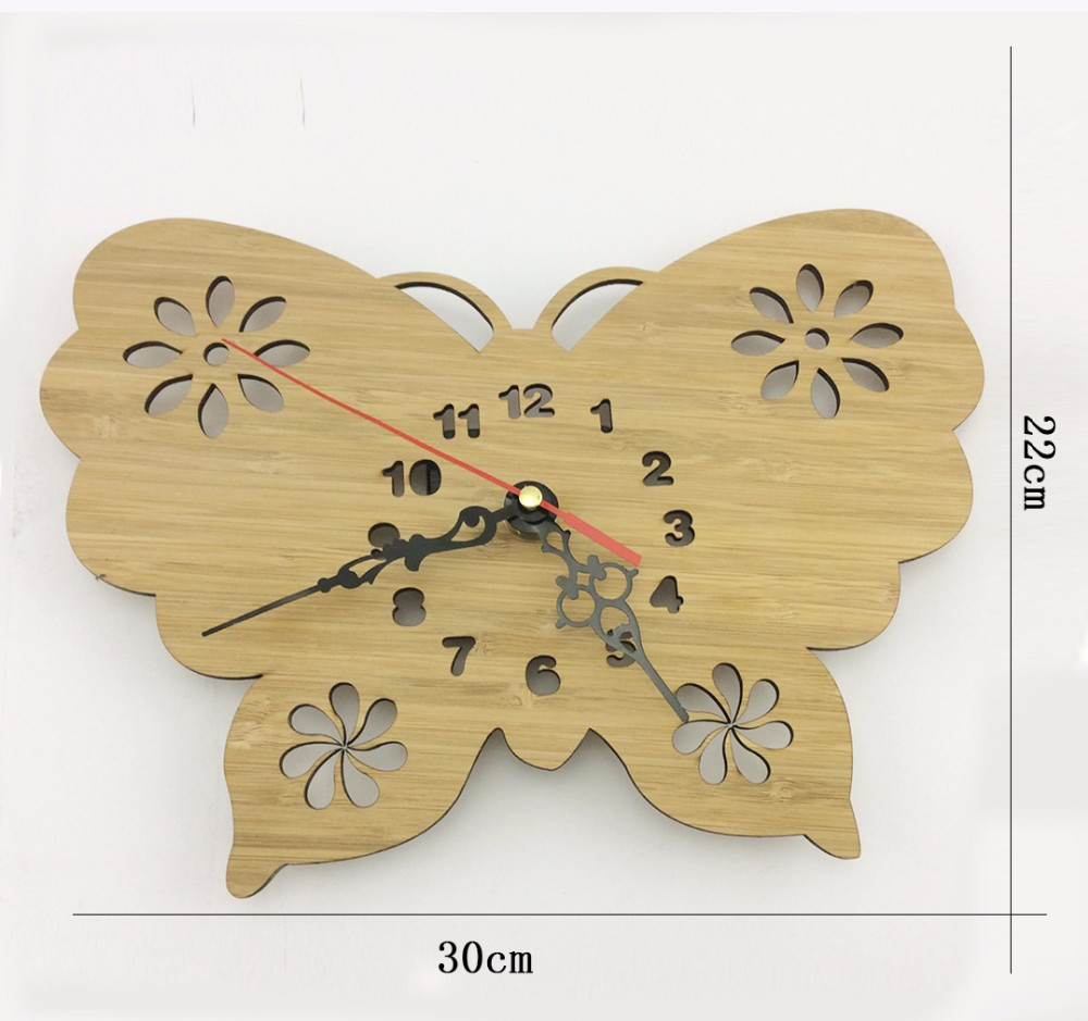 bamboo clock bird shape wooden clock wall clock