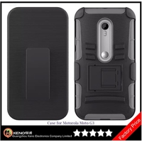 Keno PC TPU Dual Layer High Quality Blank Case, Dual Layer Shockproof Mobile Phone Case, Dual Layers Phone Case for Moto G3