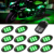 Advanced LED Multi Color Motorcycle Accent Glow 5050 Waterproof Oval Pod light kit with Wireless Remote Controller