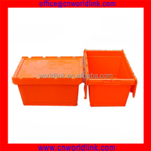 2016 Hot Sale Moving Company Use With Lid Plastic Tote Box
