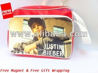 JUSTIN BIEBER Shoulder Messenger Gym Sport School College Bag a18