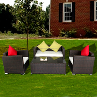 Wicker synthetic poly rattan outdoor rattan furniture
