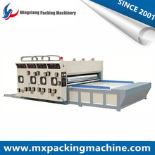 Semi Automatic Two Color Printer Slotter Machine Chain Feeding Cardboard Box Printing Slotting Machine