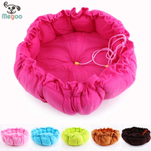 Solid Color Pumpkin Dogs Beds PP Cotton Padded Round Puppy Bed