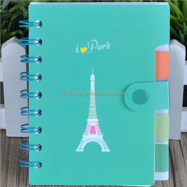 Custom daily planner, spiral bound notebook / journal printing with leather cover