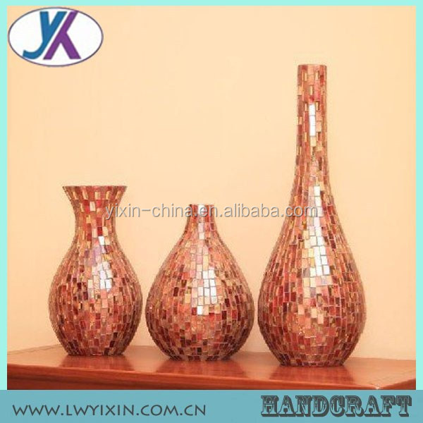 Types Of Flower India Rattan Glass Mosaic Vase Buy Glass