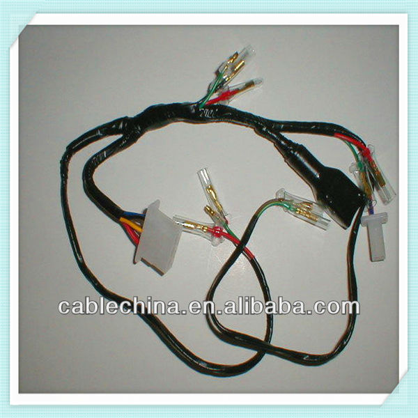 auto electrical wire harness with crimping terminals