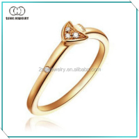 14kt Yellow gold electroplated ring over silver