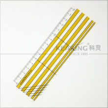 Kearing brand 5*15cm length 2mm thickness rigid plastic garment handicraft patchwork ruler for fashion design #KPR5150