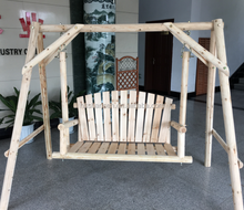 good qiality outdoor garden wooden swing chair for garden park