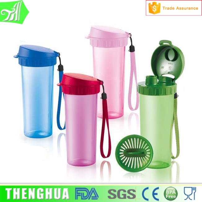 custom 500ml plastic bottle empty shaker bottle water