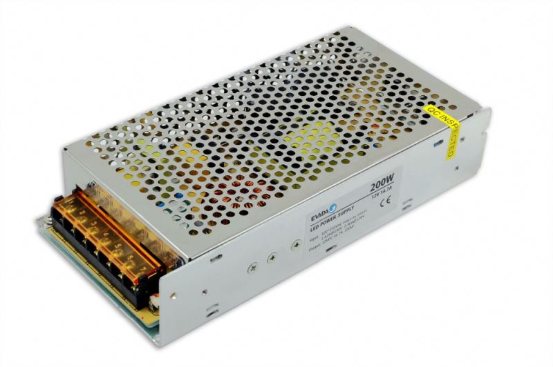 High quality 24v 200w ac/dc led driver enclosed switching power supply