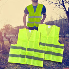 High Visibility Security Safety Vest Reflective Strips Work Wear Uniforms Clothing