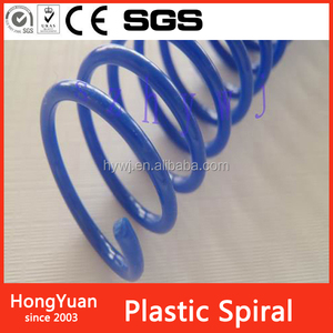 A4 pvc plastic spiral coil book binding for book and notebook